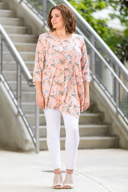 Say it Out Loud Tunic - Rosa Climbing Flowers