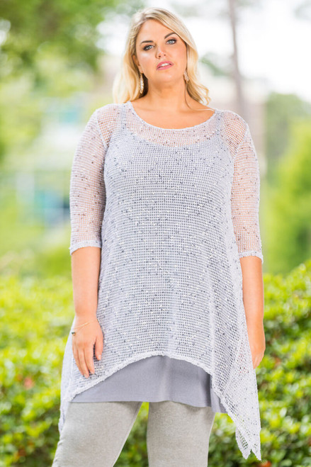 Your Best Foot Forward Tunic Net - White