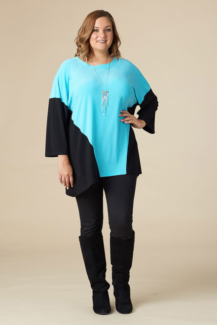 Easy Breezy Drop Shoulder Tunic - Aqua