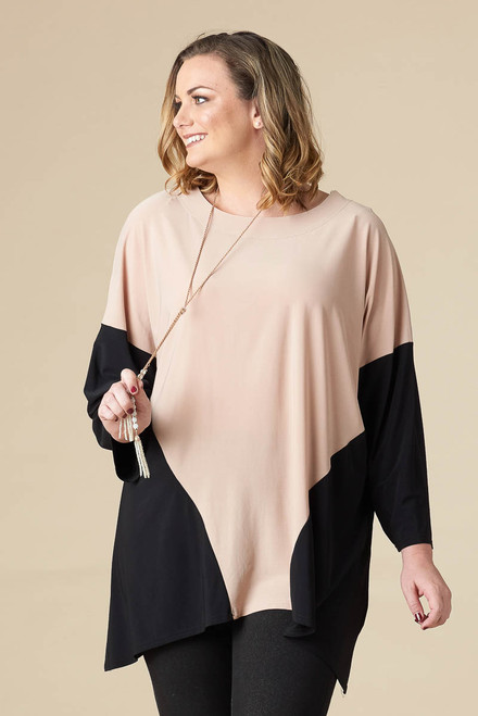 Easy Breezy Drop Shoulder Tunic - Stone