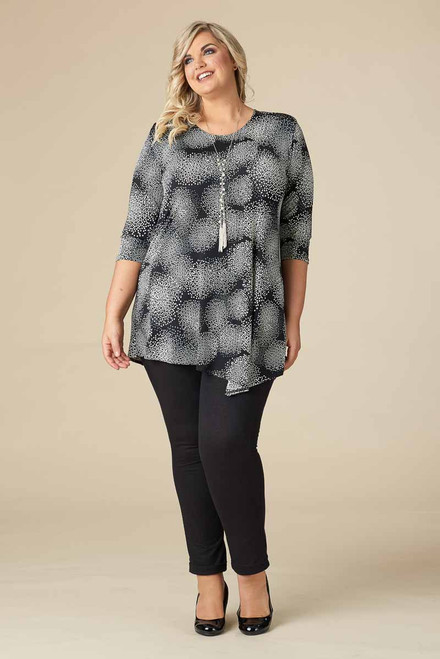 Say it Out Loud Tunic - Grey Print