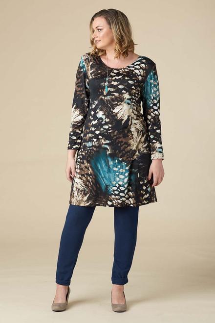 A Multi-Tasker, Just Like Me Dress - Teal Print