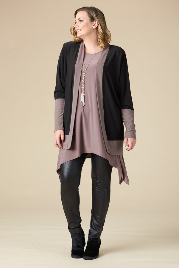 Compare and Contrast Jacket - Taupe