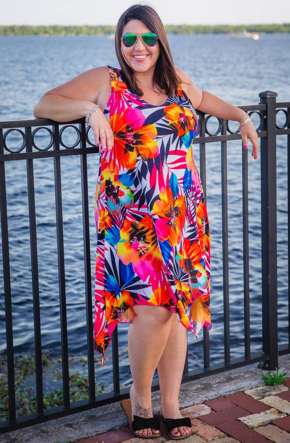As Good as Gold Sleeveless Dress - Floral Print