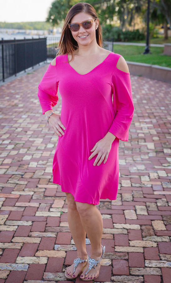 Play it Again Dress – Lt Fuchsia