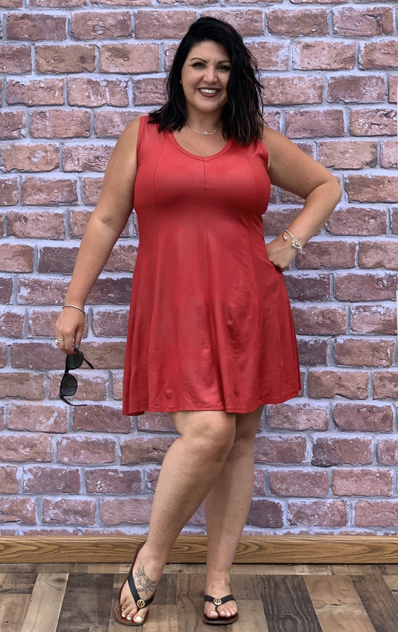 Feel The Beat Dress - Faux Leather Red