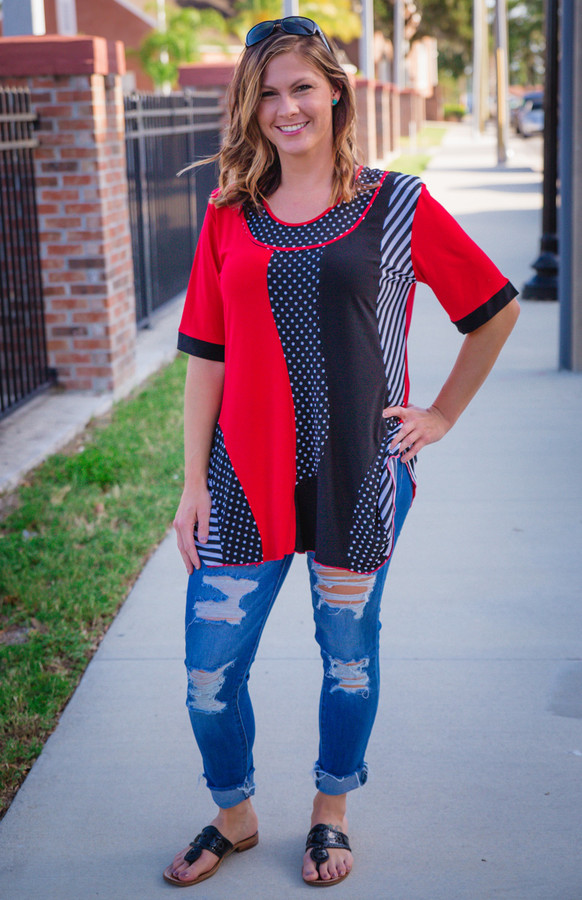 Somebody New Tunic- Red