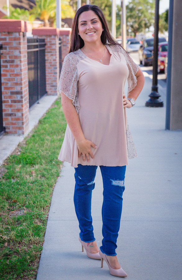 By The Sea Tunic- Taupe