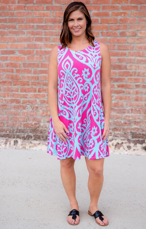 Day Dreamer Dress- Fuchsia