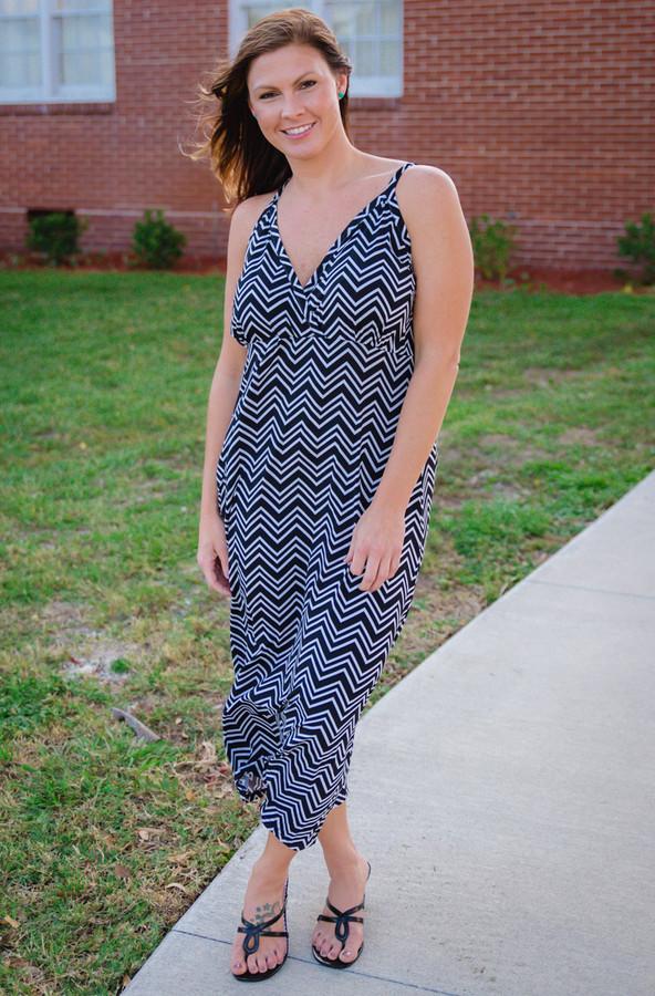 Drive You Crazy Dress- Chevron Print