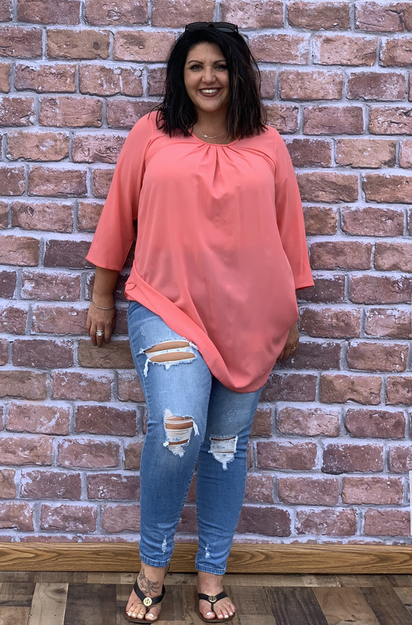 Love At First Sight Top- Coral