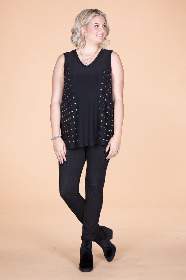 Dotted Lines Tank - Black