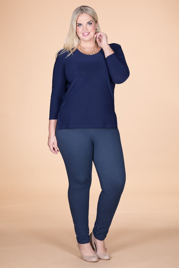 At Your Leisure Side Slit Top - Blue