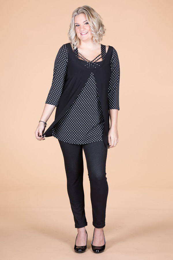 Easy Like a Sunday Morning Long Sleeve Top - Spots
