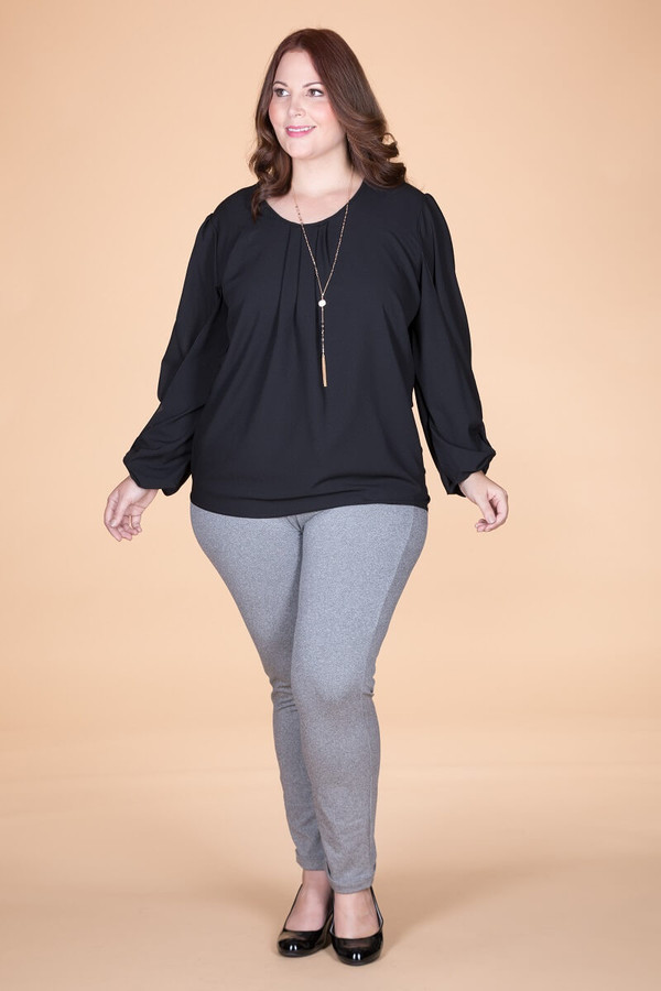 Wonderful Every Time Long Sleeve Blouse - Black