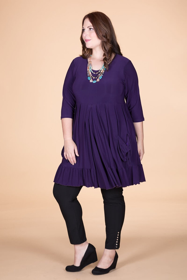 Girl Next Door Tunic - Purple