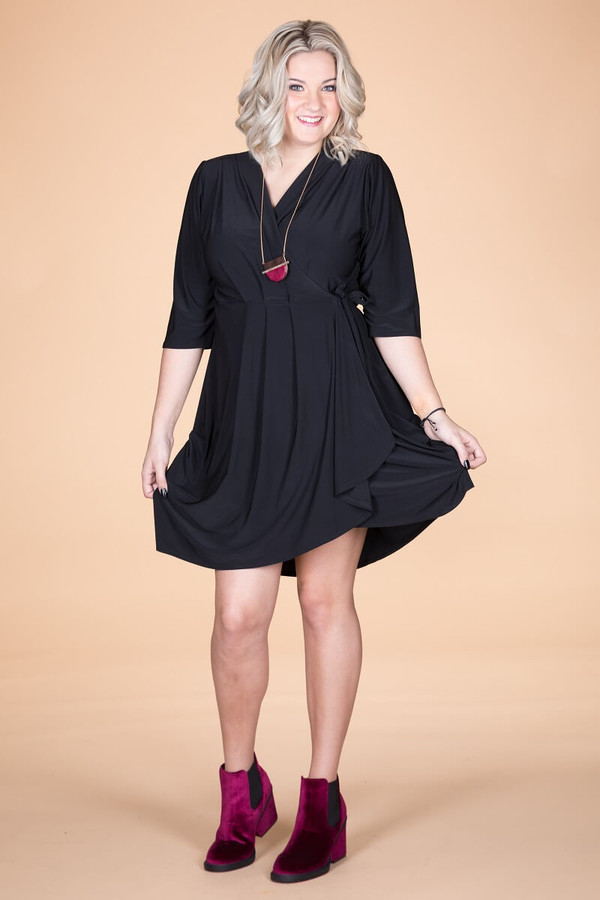 That's a Wrap Dress - Black