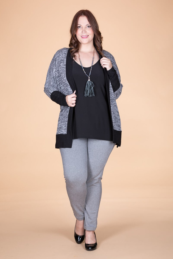 Compare and Contrast Jacket - Mixed Grey Print