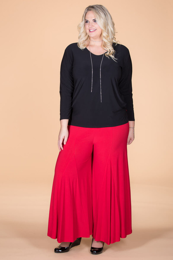 Swing Time Palazzo Pants - Red