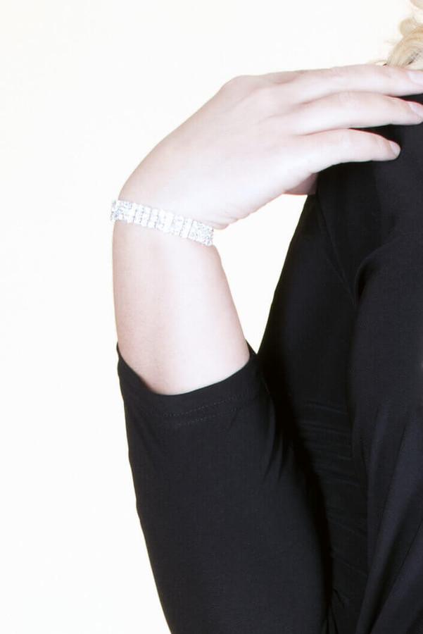 Crystal Stretch Bracelet - Silver