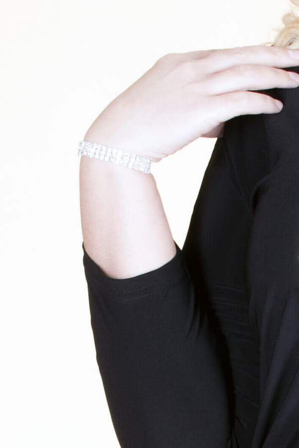 Crystal Stretch Bracelet - Silver