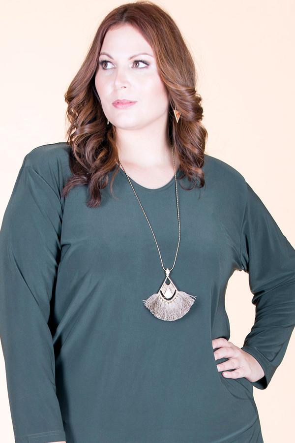 Long Tassel Fan Pendant Antique Chain Necklace ƒ?? Grey