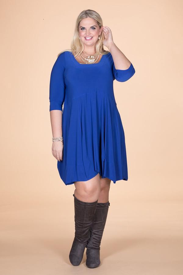 Swing Out Sister Dress - Cobalt Blue