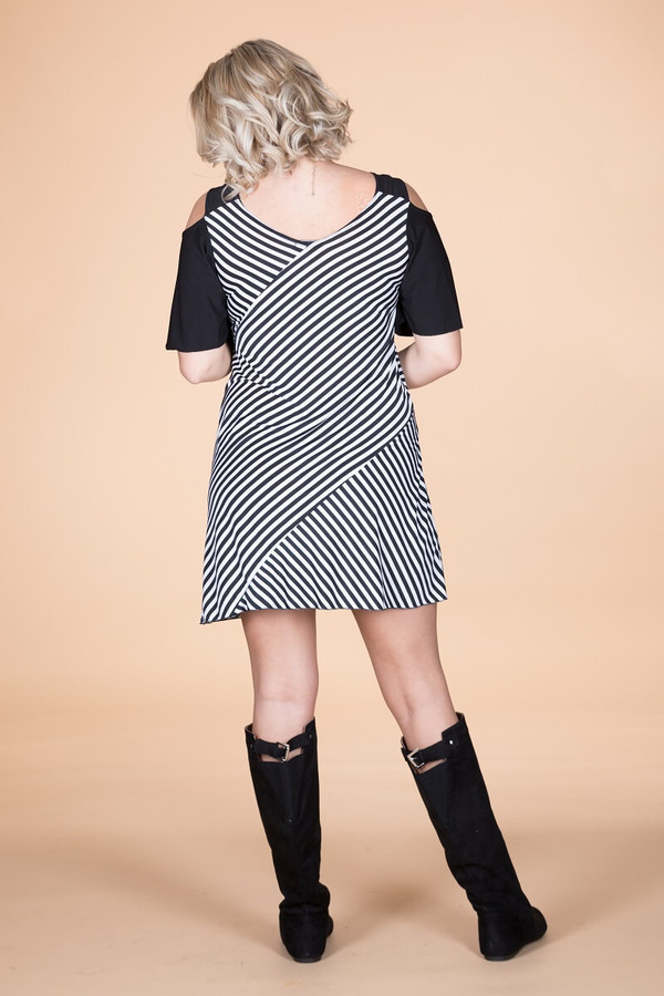 Show Your Spunk Cold Shoulder Dress
