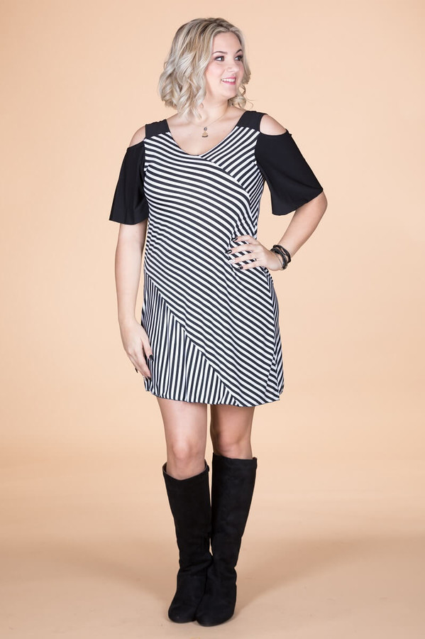 Show Your Spunk Cold Shoulder Dress