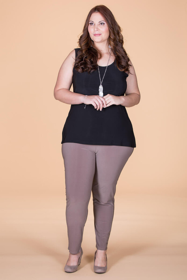 All Buttoned Up Legging - Taupe
