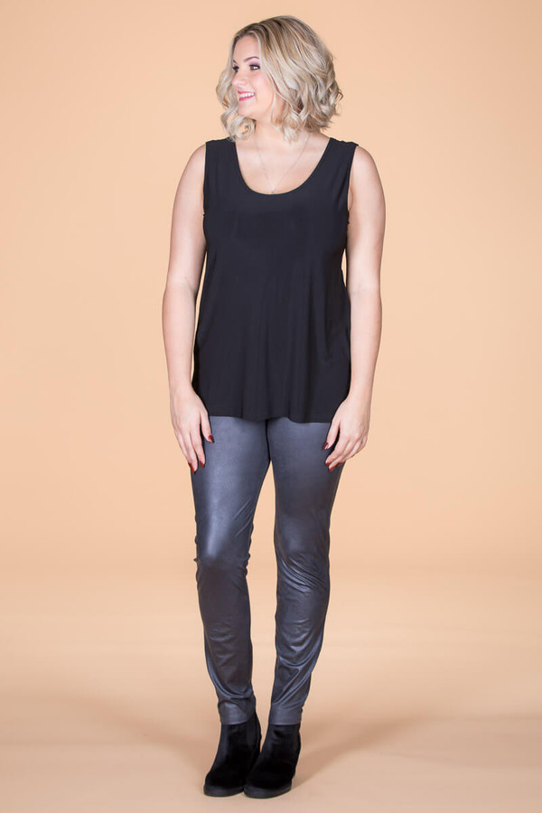 Instant Favorite Legging - Grey Faux Leather