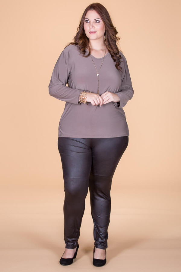 Instant Favorite Legging - Brown Faux Leather