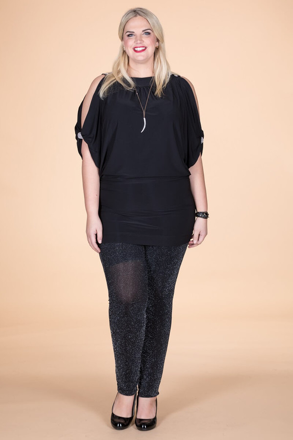 Night Out Shoulders Out Tunic