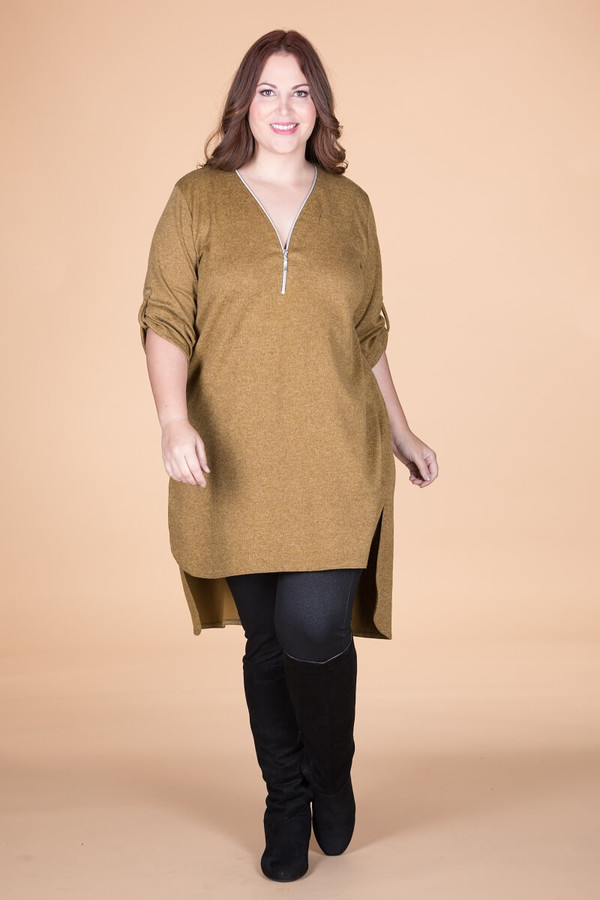 High-Low Heather Tunic - Oaker