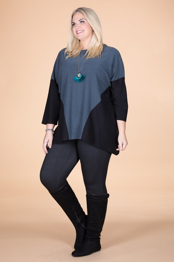 Easy Breezy Drop Shoulder Tunic - Grey