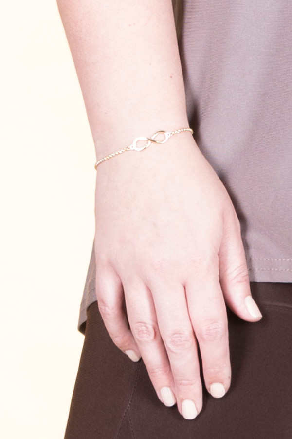Infinity Chain Bracelet - Yellow Gold