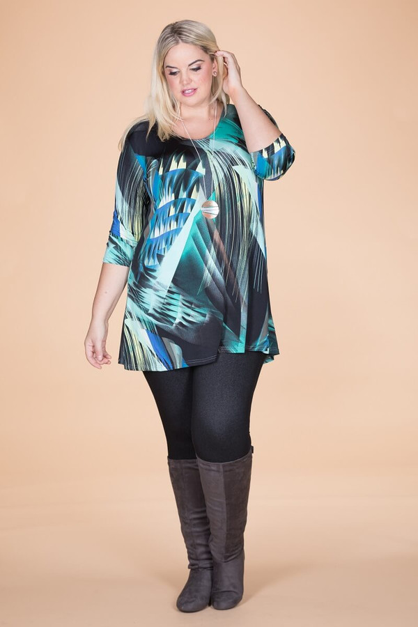 Beautifully Simple Tunic - Blue Lights Print