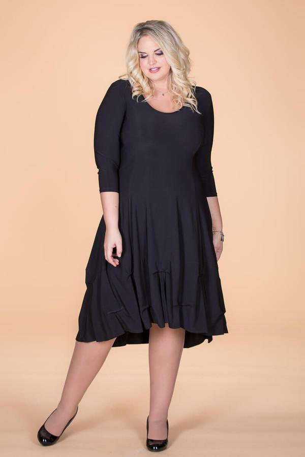Game-Changer Ruffle Dress - Black