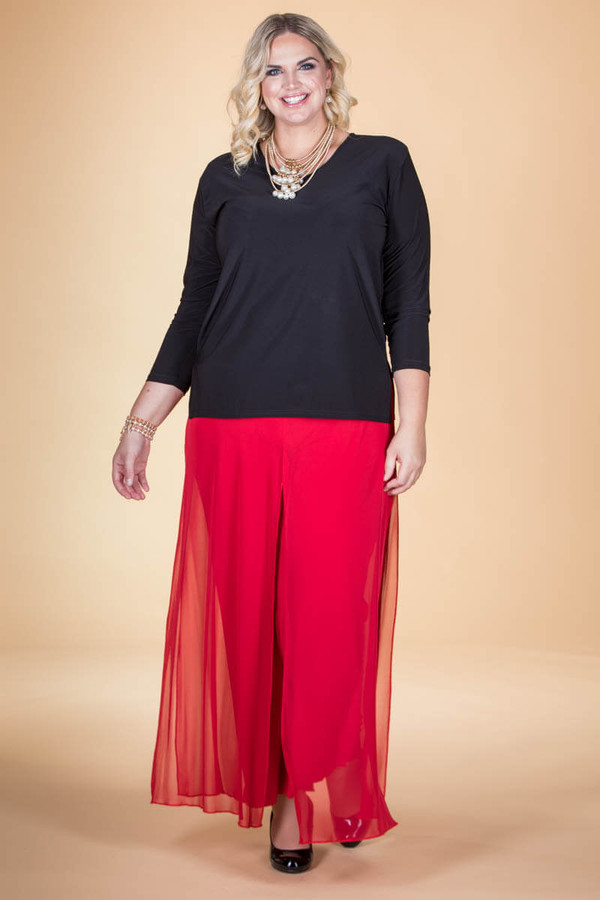 Front Row Palazzo Pant - Red