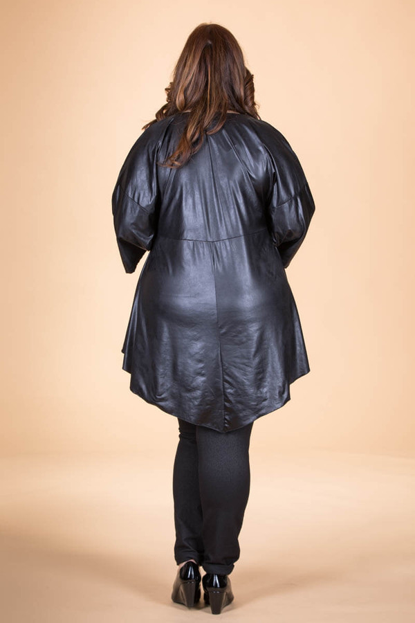 fd47add0b7c ... Girls Just Want to Have Fun Modern Top - Black Faux Leather