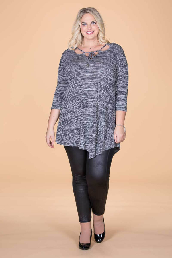 All I Could Wish For Tunic - Mixed Grey Print