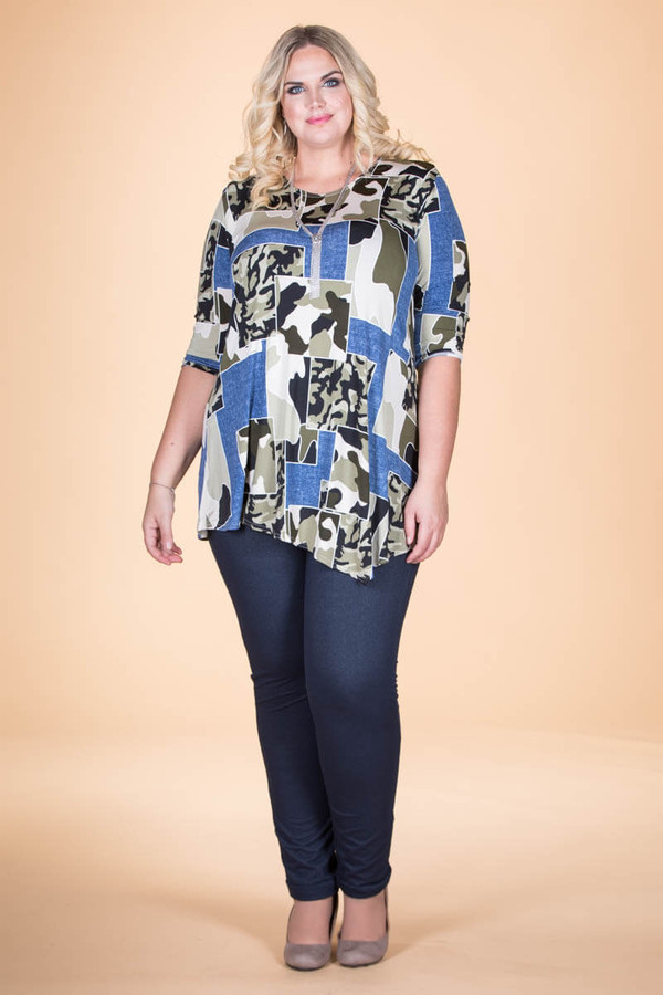 Say it Out Loud Tunic - Mixed Hunter Print