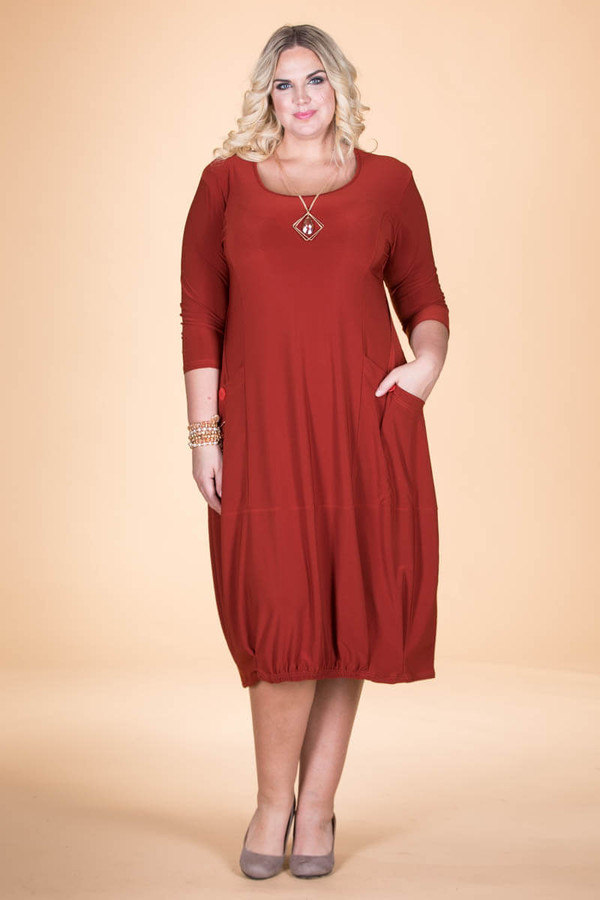 Simple Dreams Pocket Dress - Rust