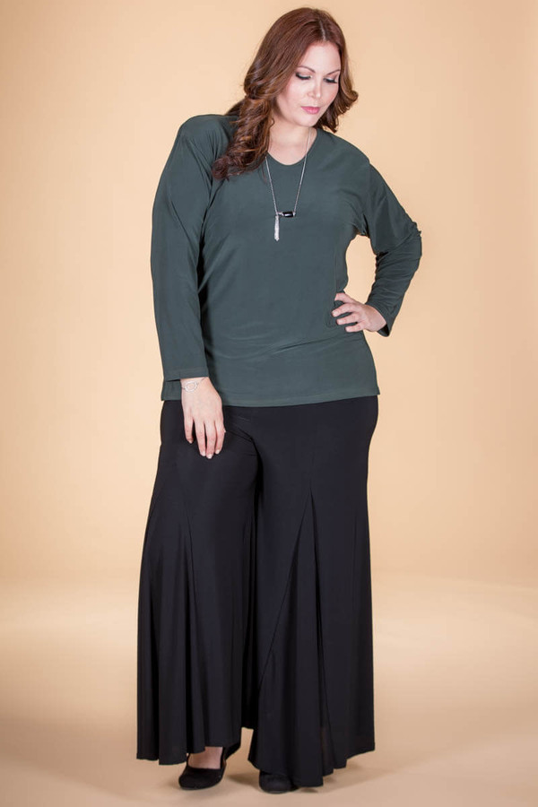 Swing Time Palazzo Pants - Black