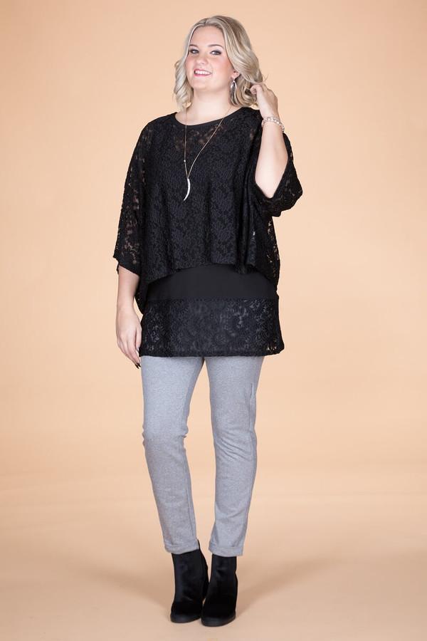 Transformative Lace Layering Top - Black
