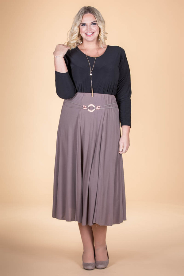 No Time Like the Present Skirt - Taupe
