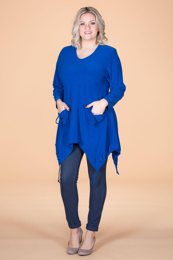 Time to Get Cozy Tunic - Blue