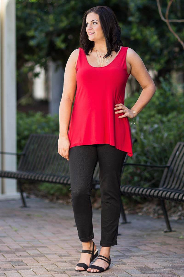 Style Setter Lux Tank - Red