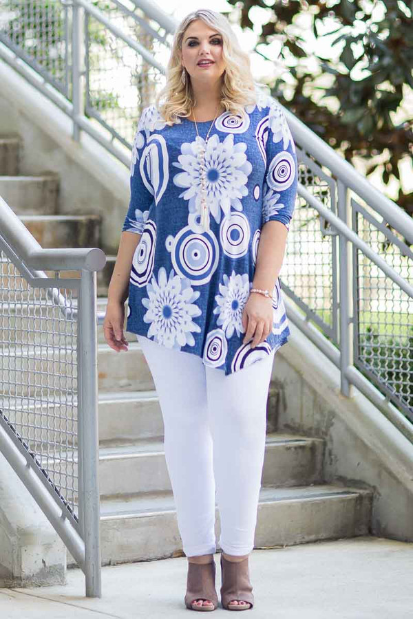 Say it Out Loud Tunic - Mixed Patches Print
