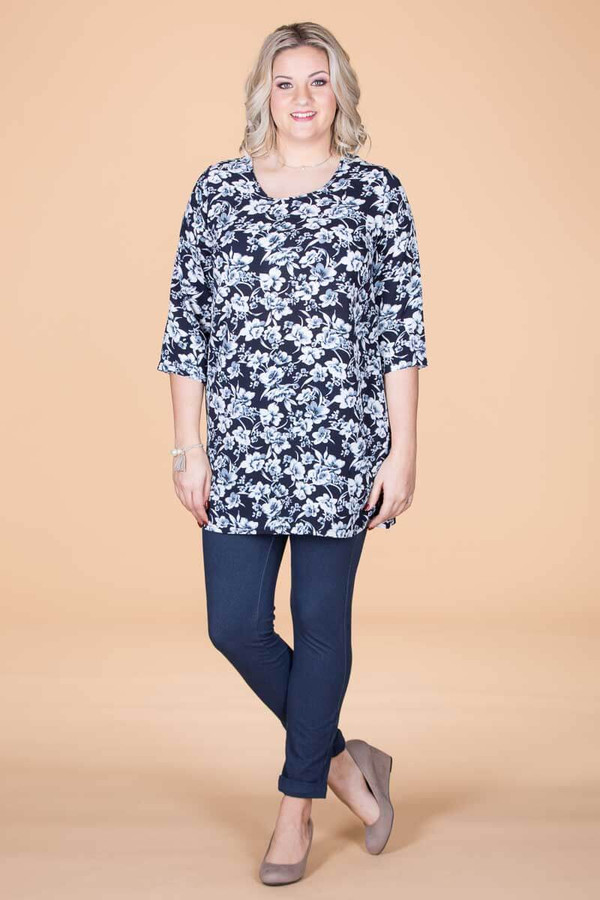 Never Too Busy for Style Tunic - Floral Print